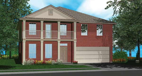 Killeen TX Homes The Charleston Plan Elevation M