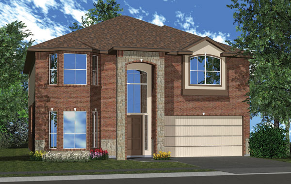 Killeen TX Homes Charleston Plan Elevation W