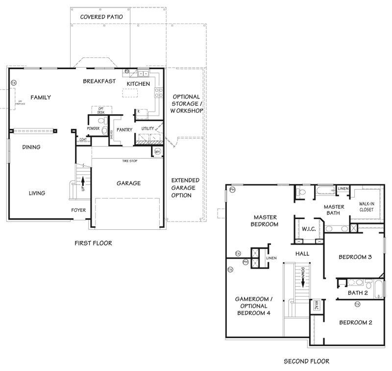Killeen TX Homes Charleston Floor Plan