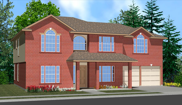Killeen TX Homes Wren Plan Elevation L