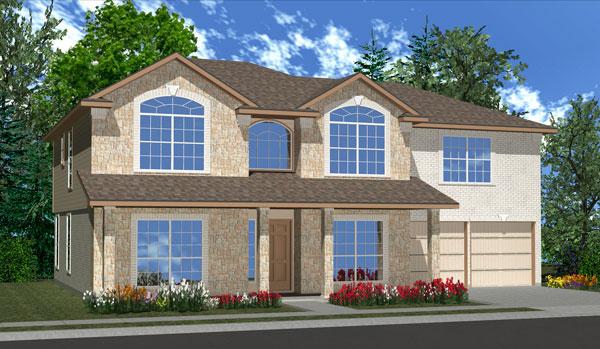 Killeen TX Homes Wren Plan Elevation W