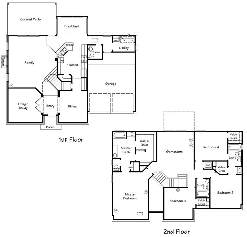 Killeen TX Homes Wren Floor Plan