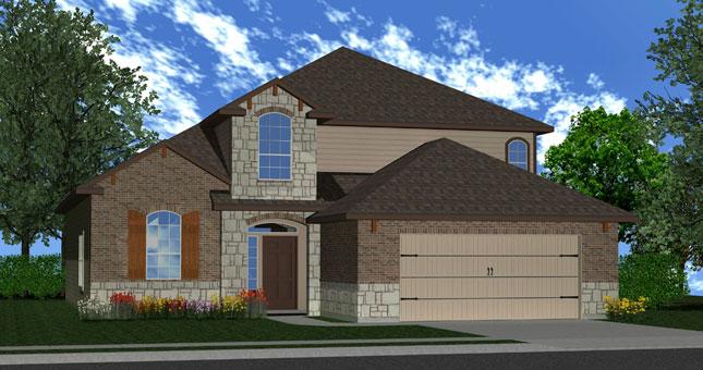 Killeen TX Homes The Espera Plan Elevation W