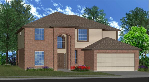 Killeen TX Homes Regency Plan Elevation K