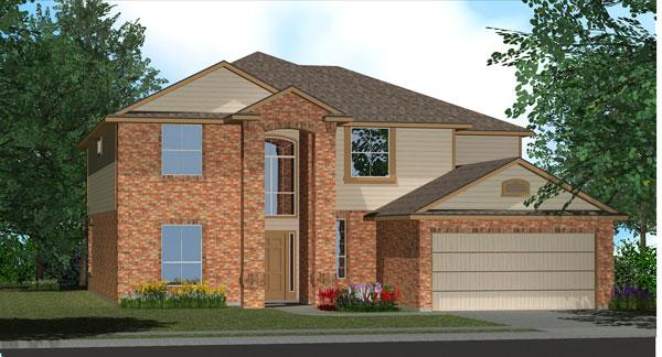 Killeen TX Homes Regency Plan Elevation L
