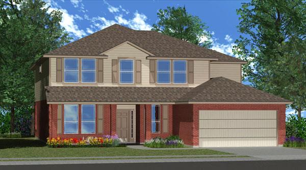 Killeen TX Homes Regency Plan Elevation M