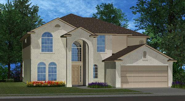Killeen TX Homes Regency Plan Elevation N