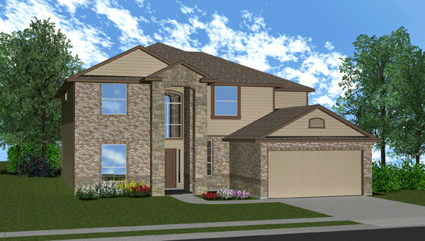 Killeen TX Homes Regency Plan Elevation W