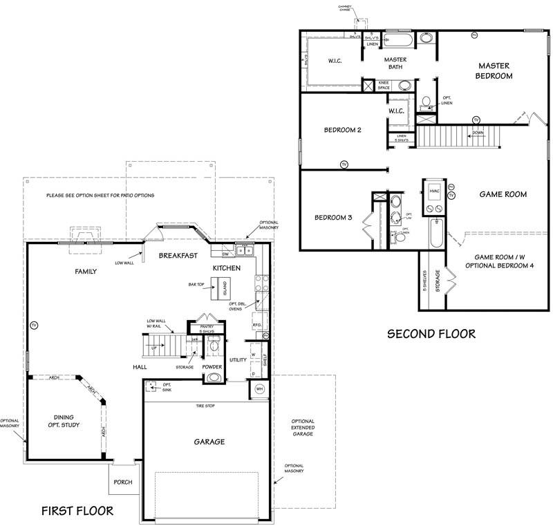 Killeen TX Homes Niagara Floor Plan