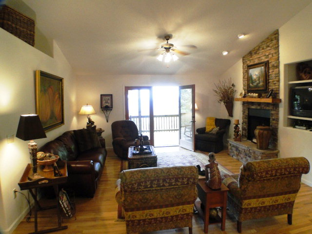 This home is immaculate... fireplace, wood floors... just gorgeous,  Franklin NC Cabin for Sale, Smokey Mountain Properties