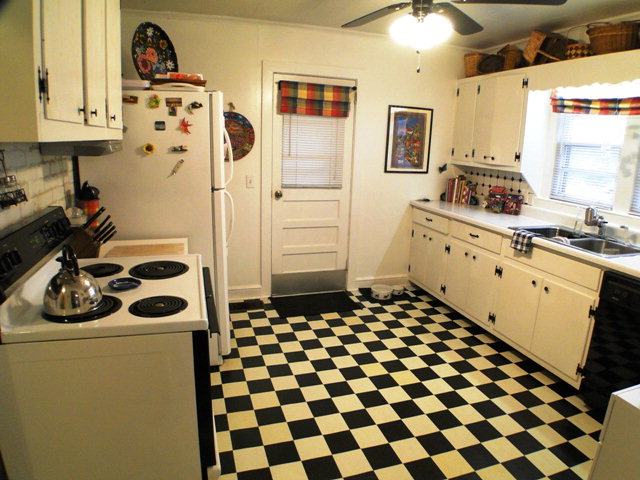 Nice big kitchen with door to the carport for those rainy days, John Becker, Franklin NC Real Estate