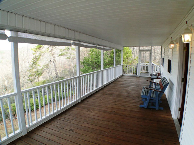 Amazing views from the full-length covered and screened deck!  Franklin NC Real Estate