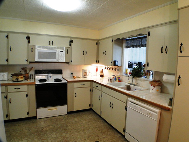 The bright kitchen with tile countertops, Franklin NC, Free MLS Search