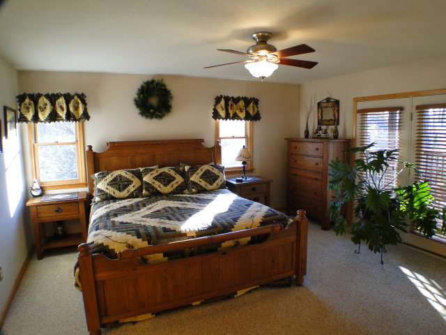 Two Large Bedrooms both have Double Doors to Deck, Mountain Cabin, Free MLS Search Franklin, Keller Williams Franklin