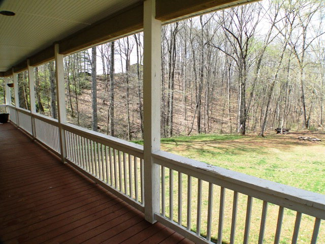Wrap-around deck overlooking almost an acre of land, Franklin NC, Otto NC, Home for Sale, Real Estate