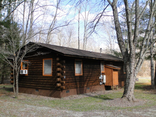 Cedar log cabin, duplex, with creekfront property (1/2 acre), Mountain Hollow Road Franklin NC Real Estate