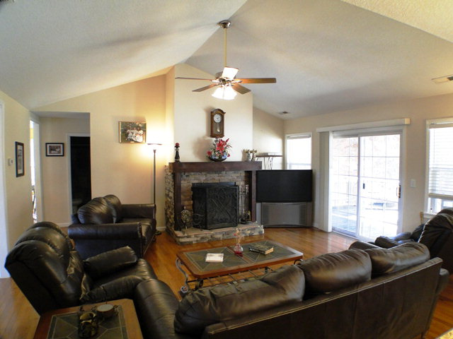 Gas log fireplace in this amazing Franklin NC Home for Sale