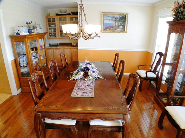 Dining room with built-in buffet, Smokey Mountain Properties