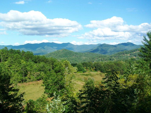 The nearly 180-degree view is truly spectacular, Franklin NC Home for Sale