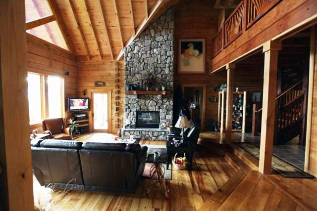 28' vaulted Great Room Ceiling, Otto NC Real Estate, Keller Williams Otto