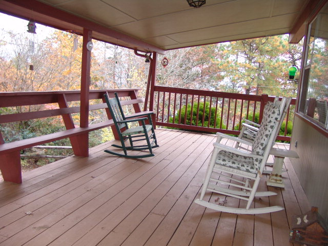 Wrap-around deck, central heat/air plus baseboard heat and brick wood-burning fireplace, Western North Carolina Homes for Sale, Bald Head John Becker