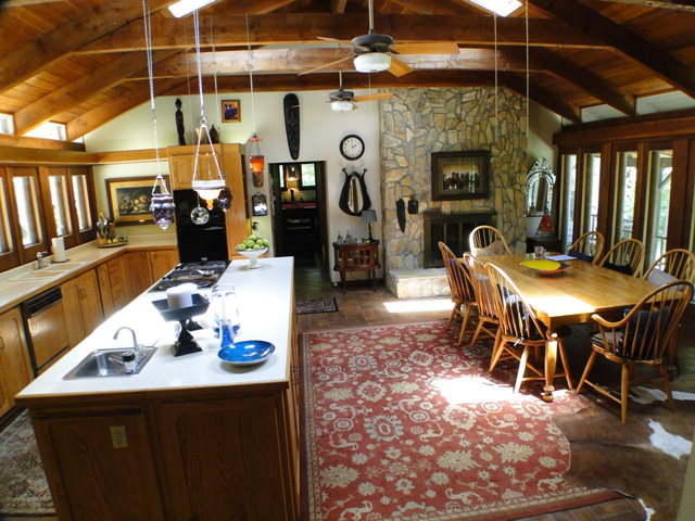 The kitchen is large enough to be its own home, Smokey Mountain Estate Home for Sale, Blue Ridge Mountain Estate, Horse Properties