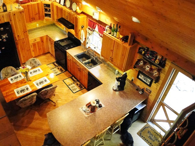 Large country kitchen with vaulted ceiling, Bald Head the Realtor, Keller Williams Realty