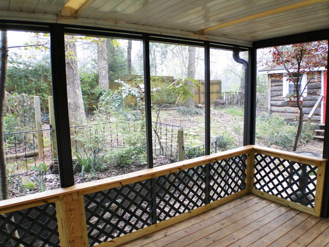 Screened porch plus deck, 70 Tallent Road, Franklin NC Home for Sale
