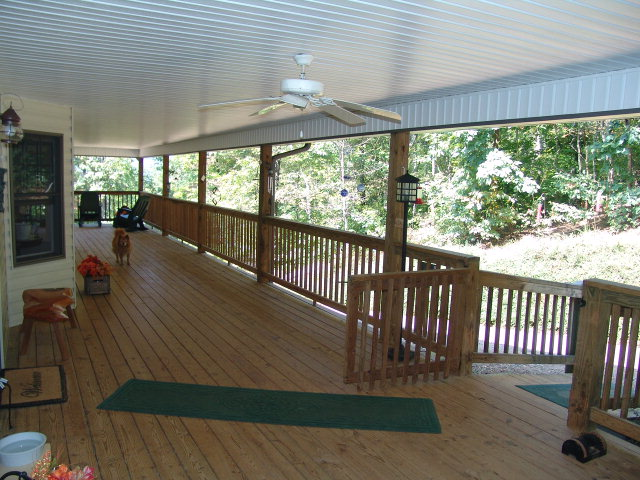3000 sq.ft of covered decking/porch that surrounds the entire home, Franklin NC Farm, Properties, Smokey Mountain