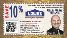 Request your 10% Coupon from Lowe's Home Improvement