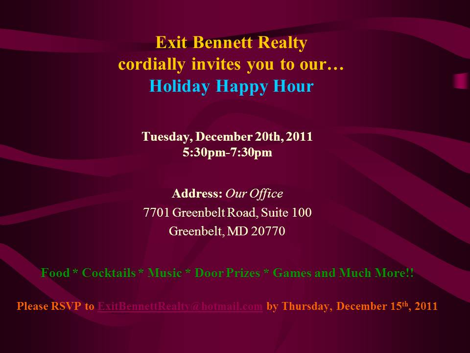 Holiday Happy Hour At Bennett Academy Of Real Estate