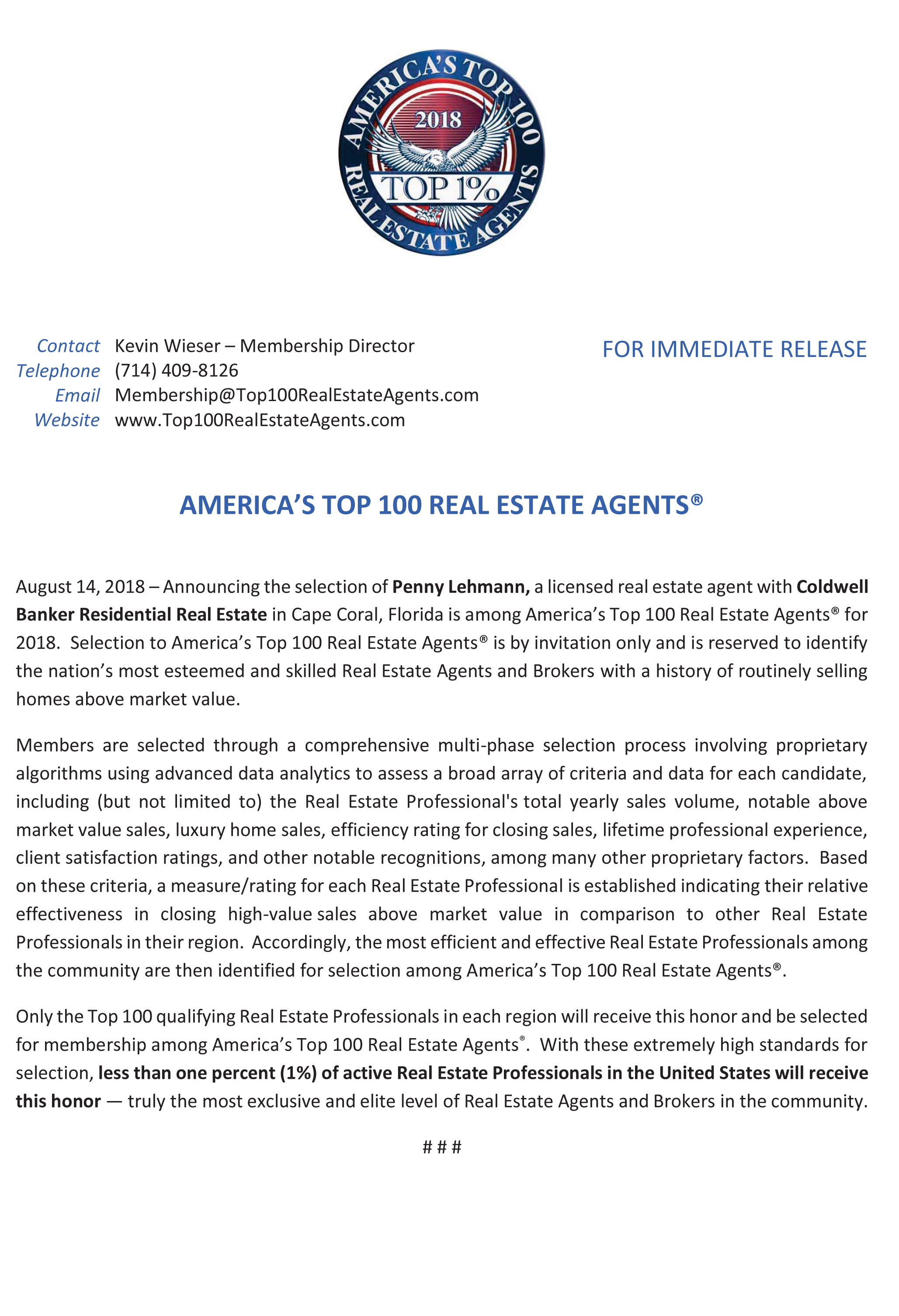 Americas Top 100 Real Estate Agents®