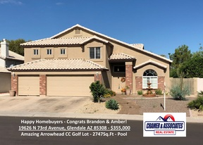 Glendale AZ Single Family Home Sold: $355,000