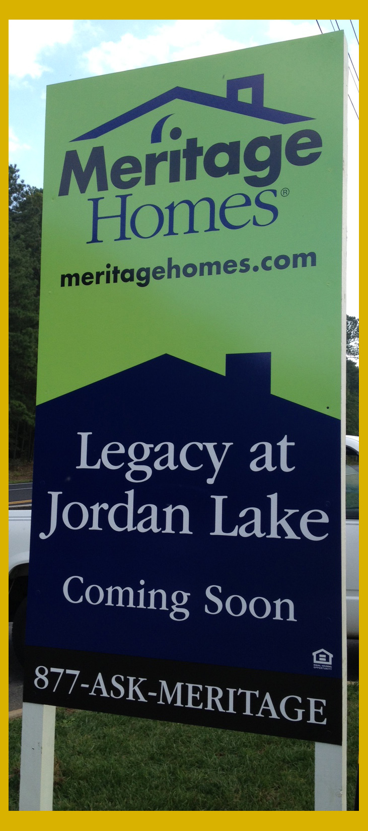 Meritage Homes Legacy at Jordan Lake sign