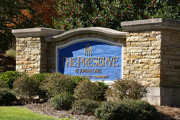 Entrance to Preserve at Jordan Lake Chapel Hill
