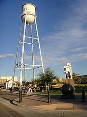 Iconic Gilbert Arizona water tower downtown