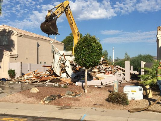 Phoenix home in Ahwatukee demolished to make way for west extension of  Loop 202
