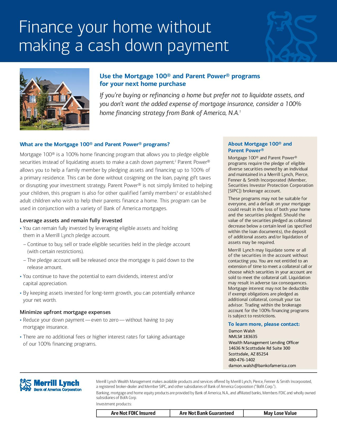 Pledging a portion of your invest portfolio as collateral for 100% home purchase loan - page 1