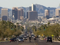 Phoenix Arizona during morning rush hour
