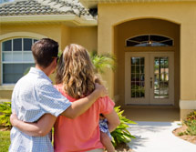 Phoenix Arizona Home buyers Admiring their new home!