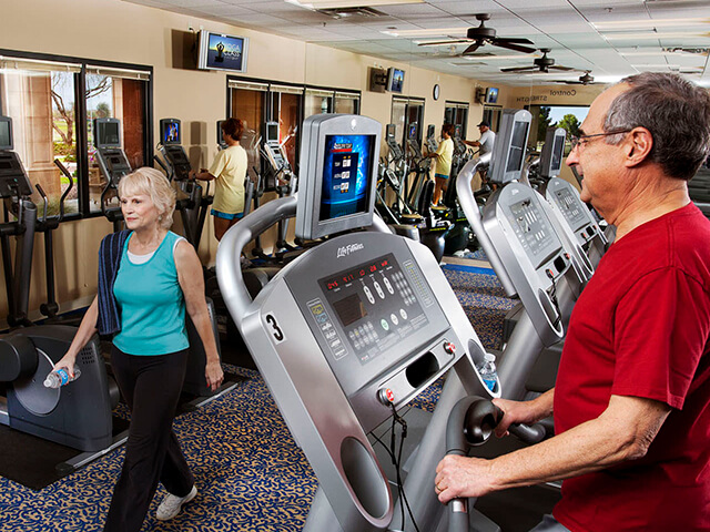 Staying fit at Active Adult Exercise Facility