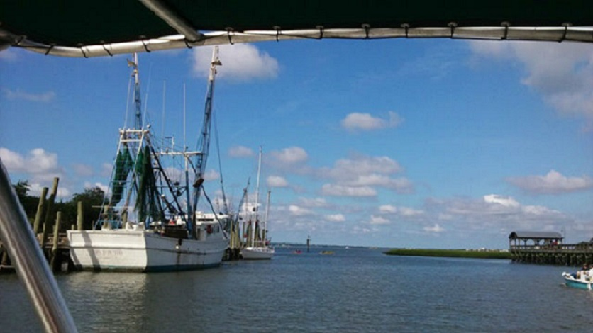 Working Shrimp Boat on  Shem Creek