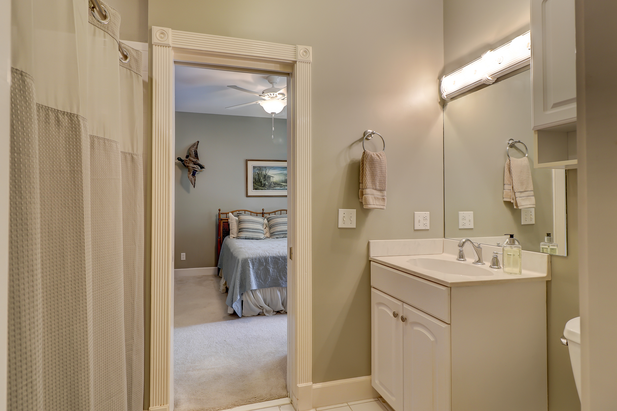 The Jack and Jill bath is shared with the 3rd bedroom on the main level. You have everything you need for single story living. You could choose to utilize both bedrooms as his and her offices or whatever works for your life style. 314 Fort Howell Dr - Palmetto Hall -  Hilton Head