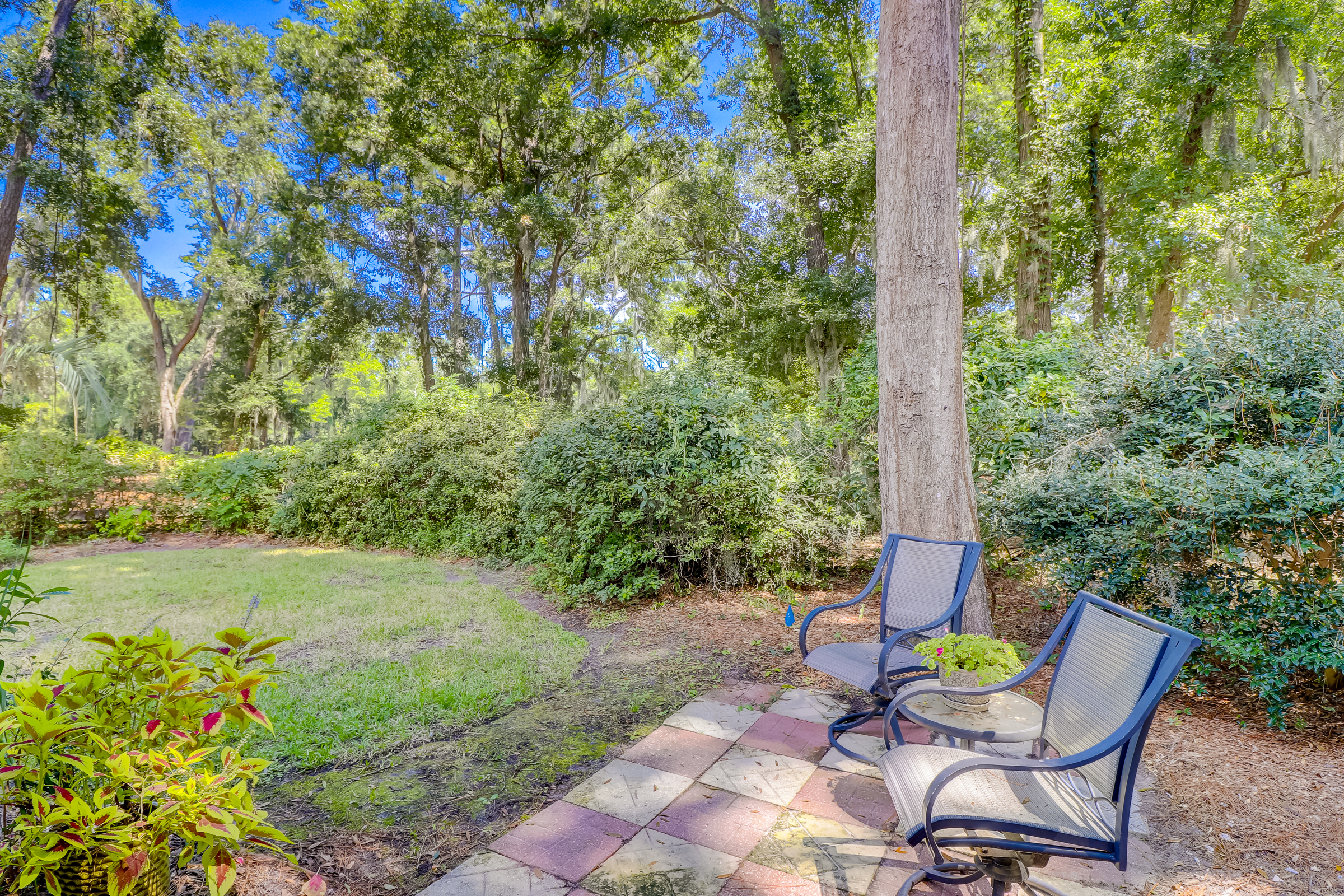 The large backyard would allow room for a pool as well as any other outdoor upgrades you would like to make.  It is like living in a park on the golf course.  Lush landscaping, mature trees and privacy make this a special place to relax.