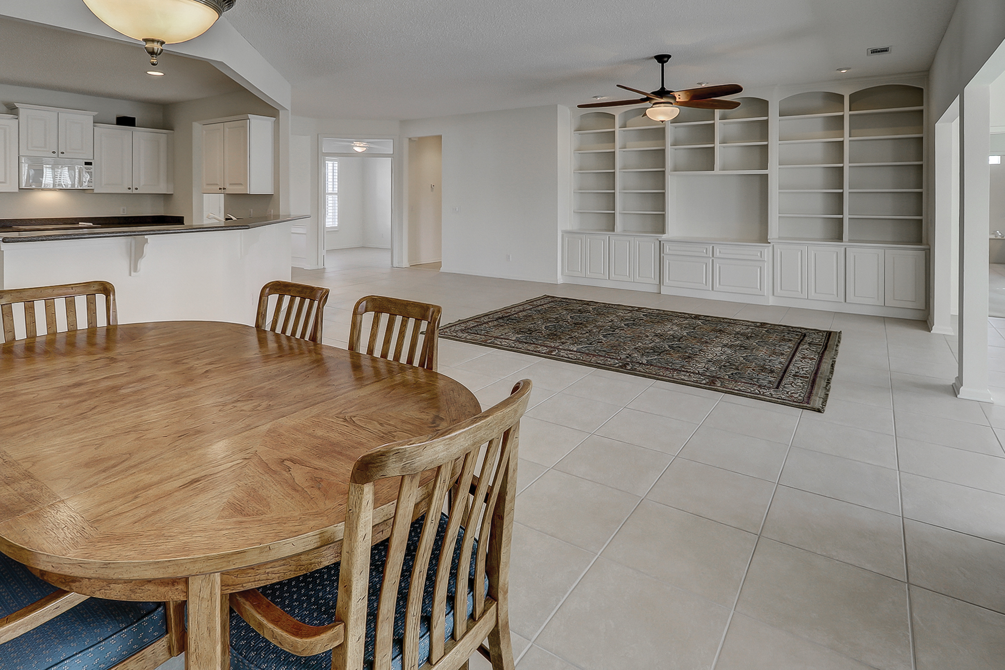 Tile floors and Plantation Shutters throughout this Chestnut Model for sale in Sun City Hilton Head