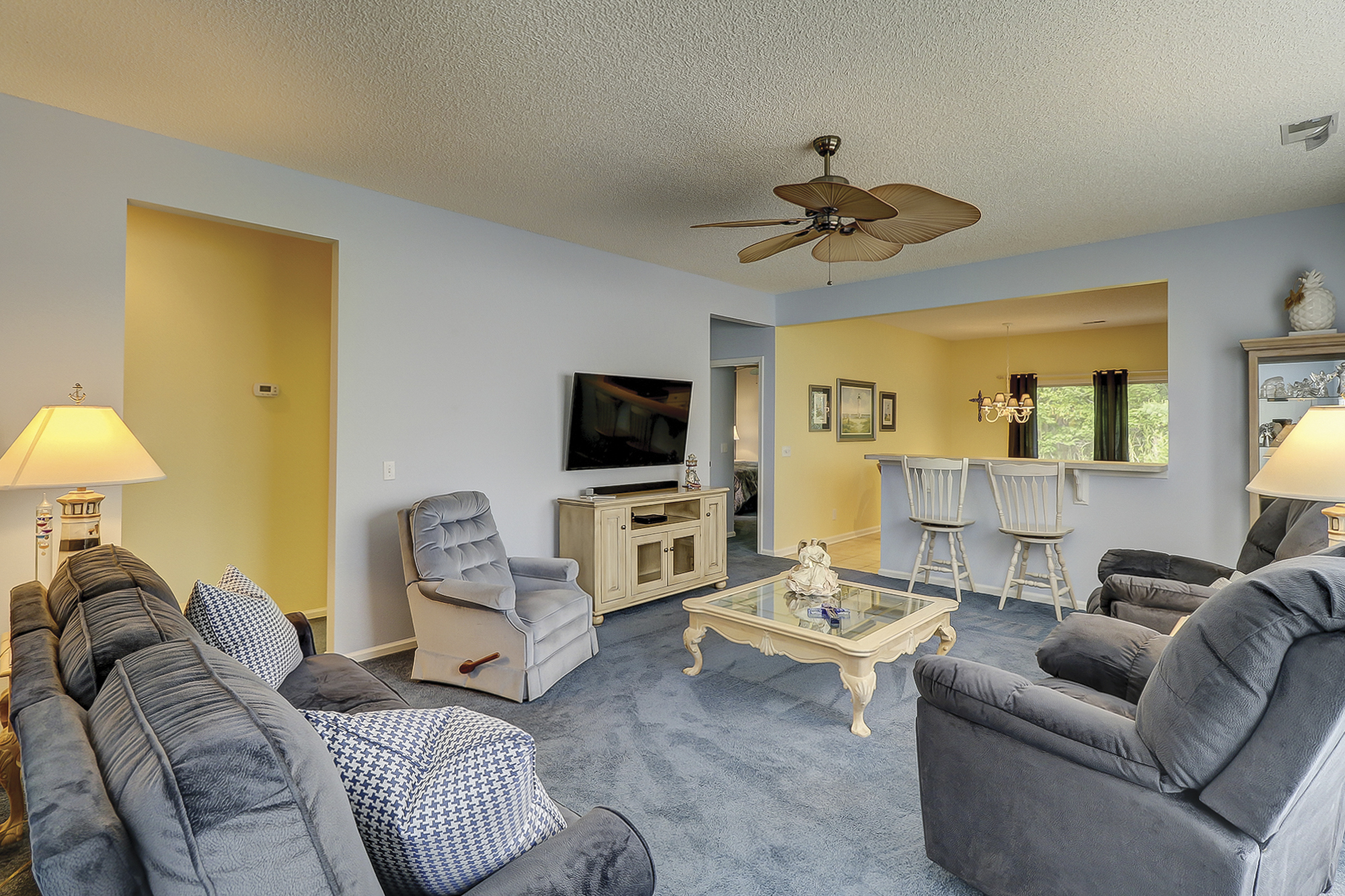 Great Room in a Primrose Model in Sun City Hilton Head Home for Sale