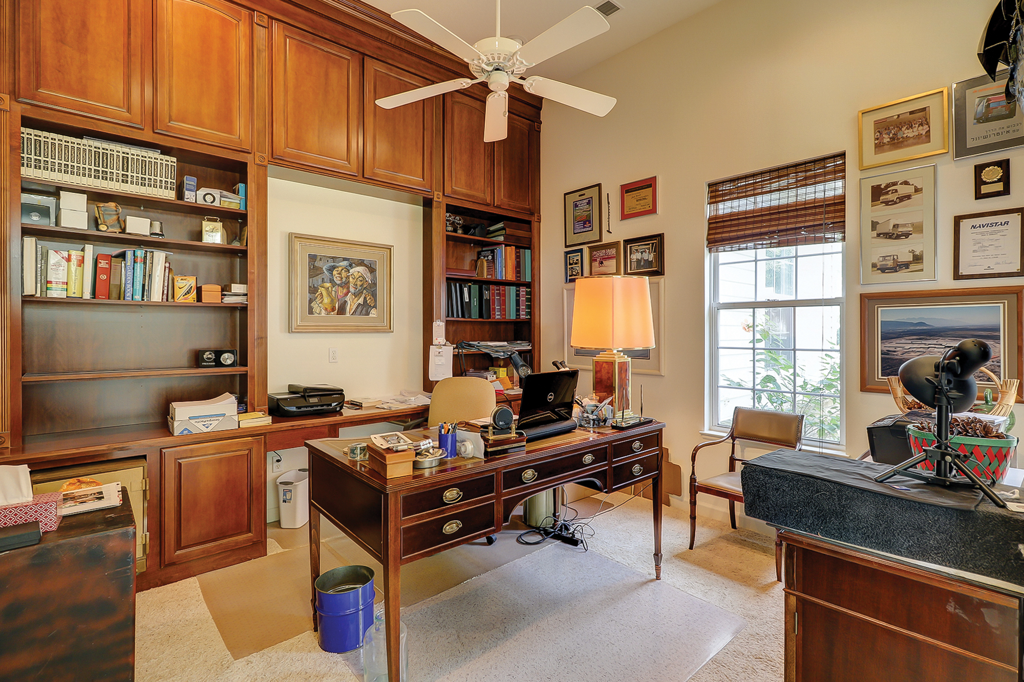 Custom Built-Ins in Study of Home in Sun City Hilton Head