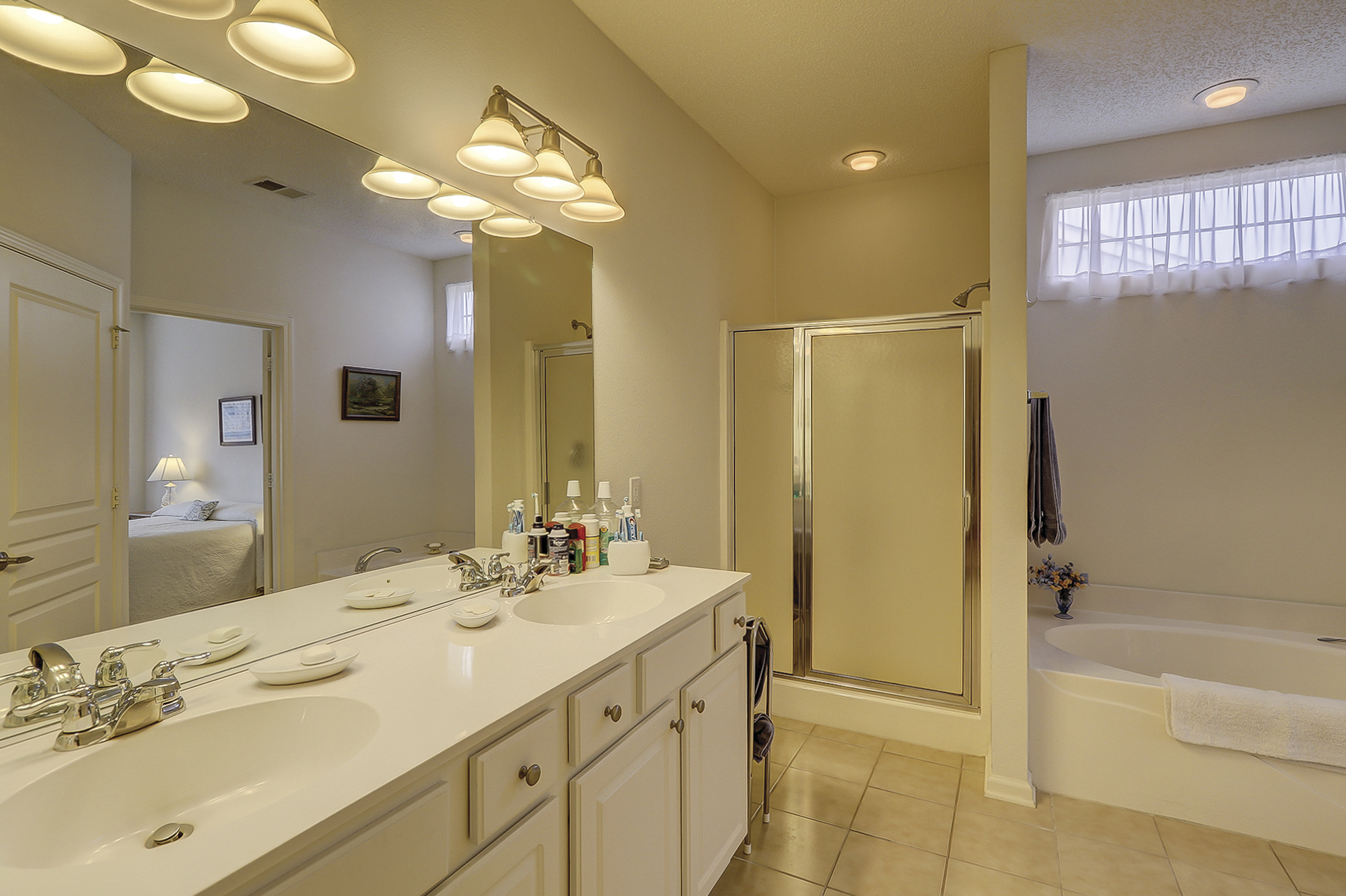 Master Bath Offers Garden Tub, Separate Shower and Double Vanity