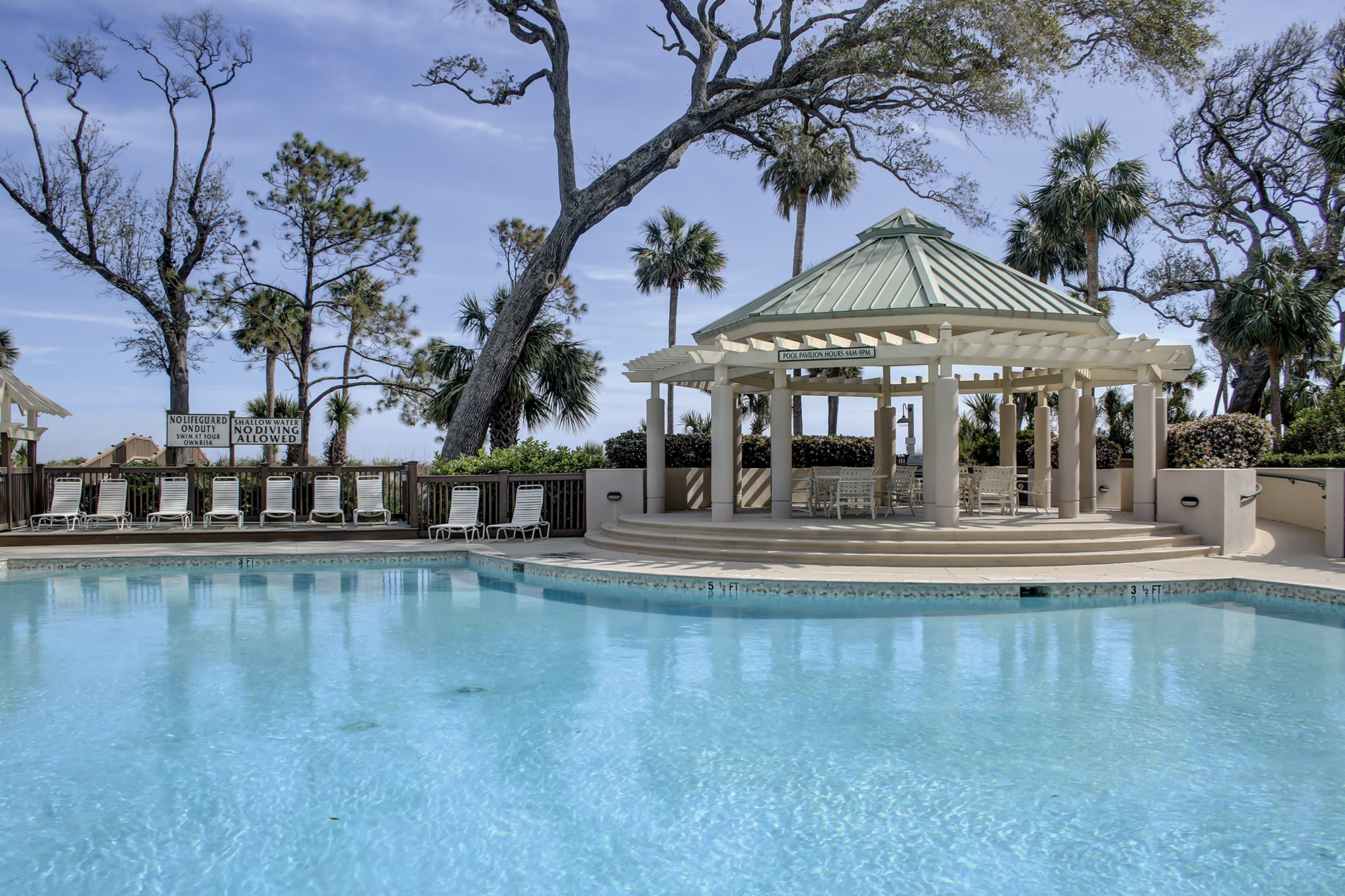 Oceanfront Resort Style Pool on Hilton Head Island Palmetto Dunes.