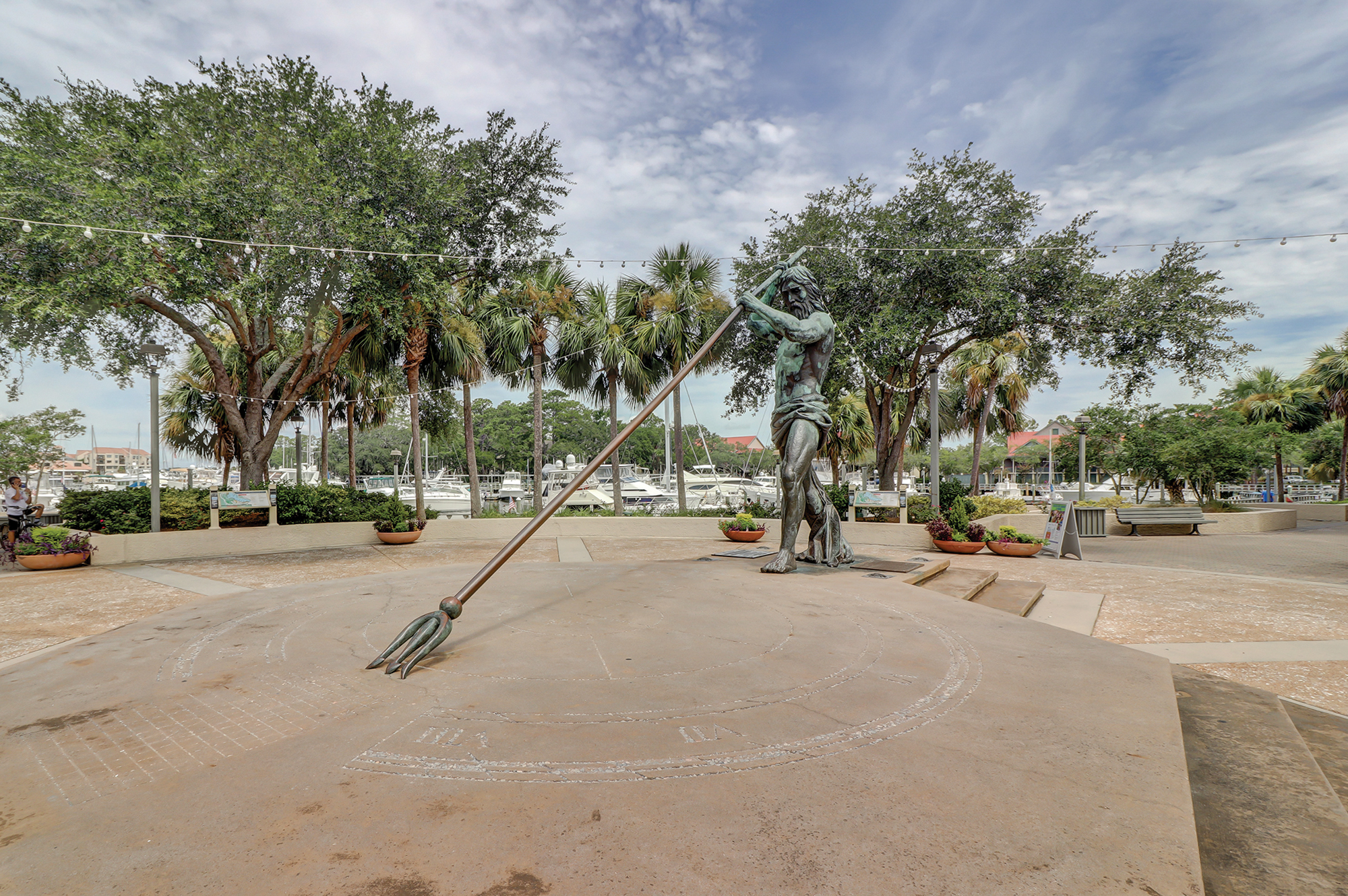 King Neptune Statue in Shelter Cove, Palmetto Dunes